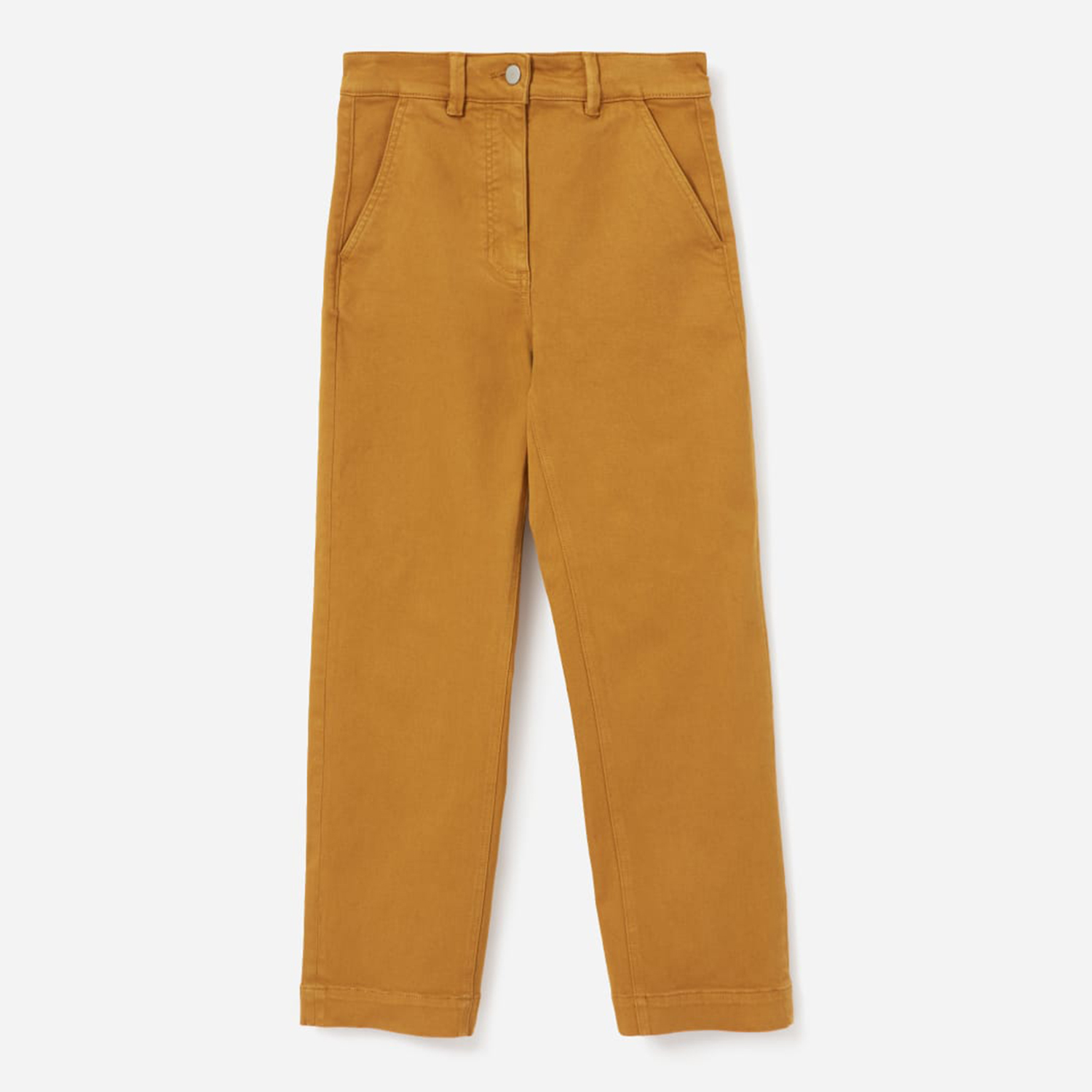 Everlane Straight Leg Crop Golden Brown Pants