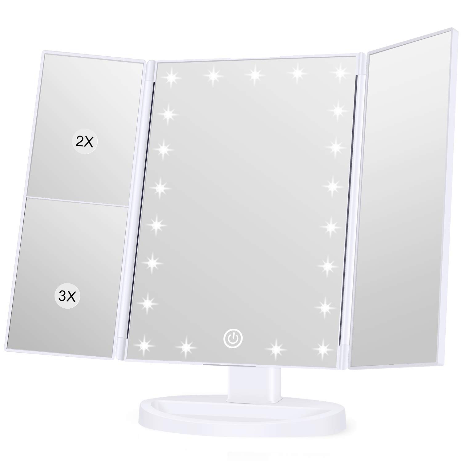 KOOLORBS Makeup 21 Led Vanity Mirror with Lights Magnification