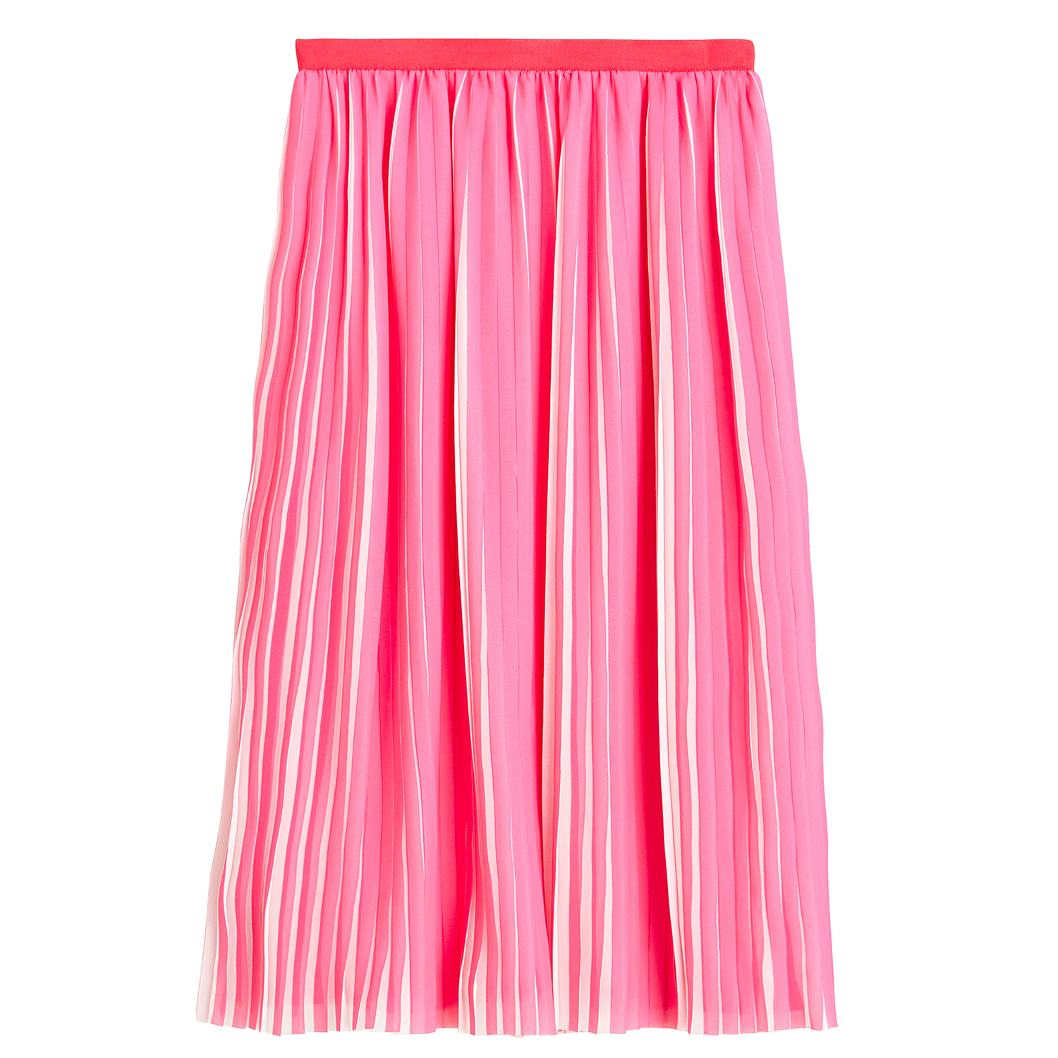 J.Crew Peekaboo Stripe Pleated Midi Skirt