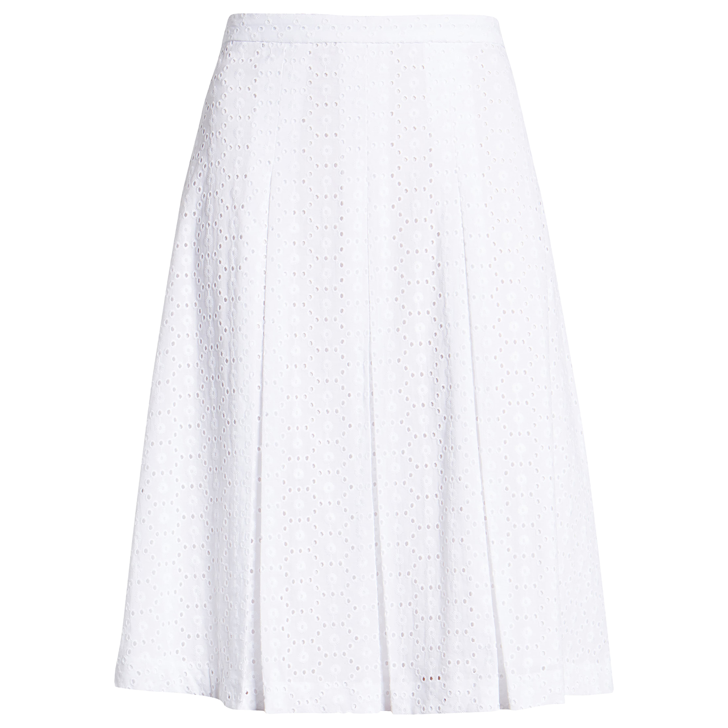 Tommy Hilfiger Pleated Cotton Eyelet Skirt