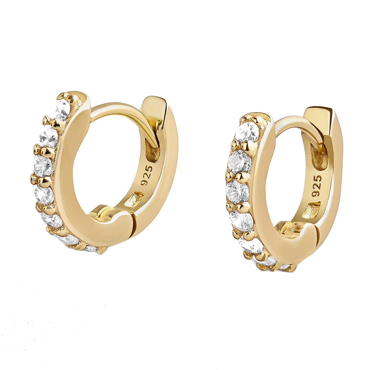 Sirena 18k Gold Vermeil Huggie Hoops Earrings