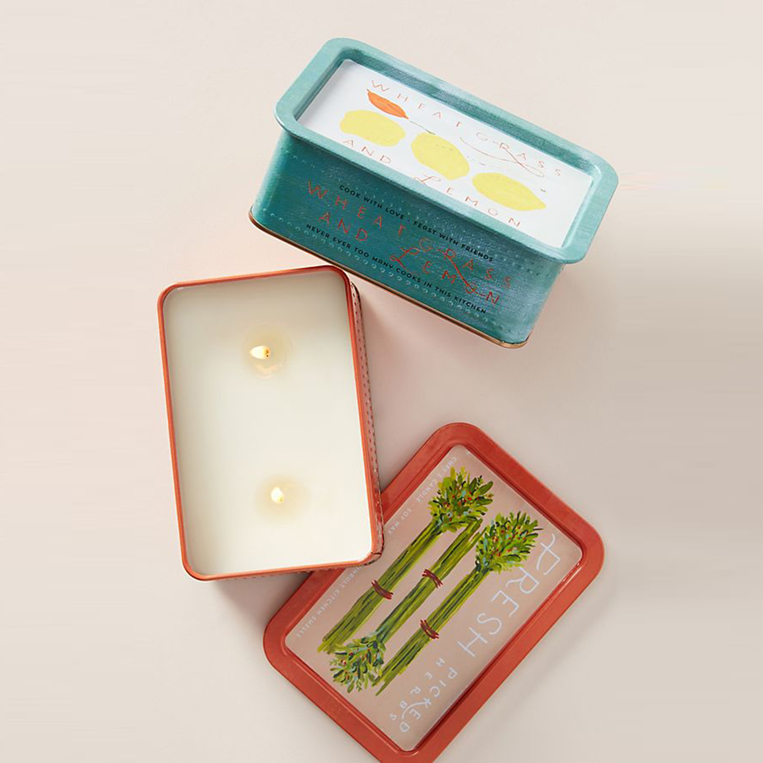 Anthropologie Tin Chef's Candle