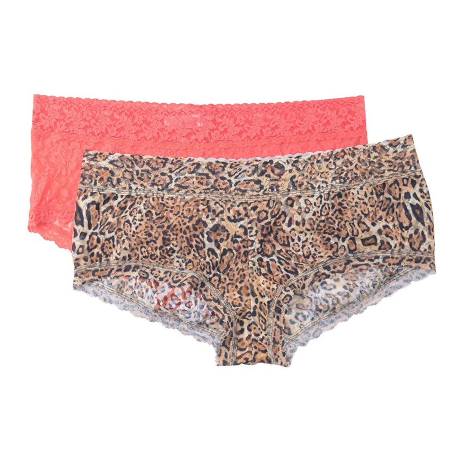 Hanky Panky Mixed Print Lace Boyshorts Pack of 2