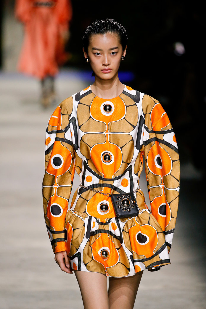 printed dress christopher kane spring 2020