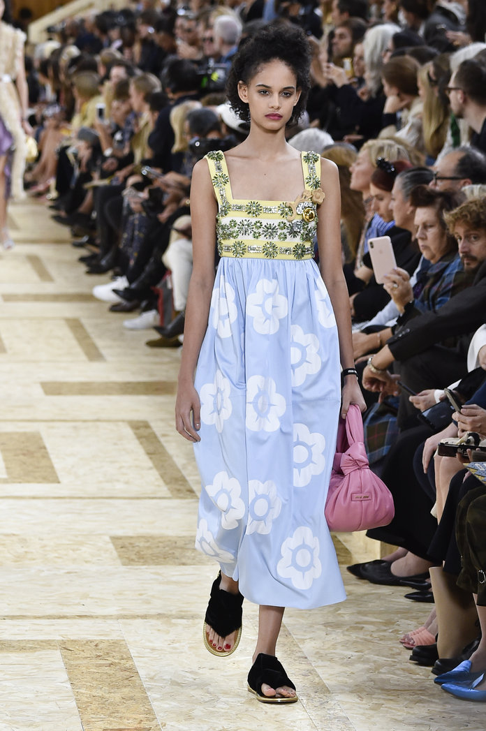 printed dress miu miu spring 2020