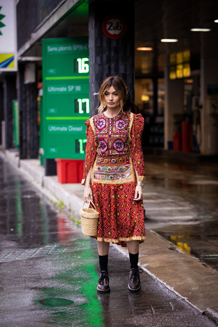 Printed Dress, street style outfit idea, spring 2020