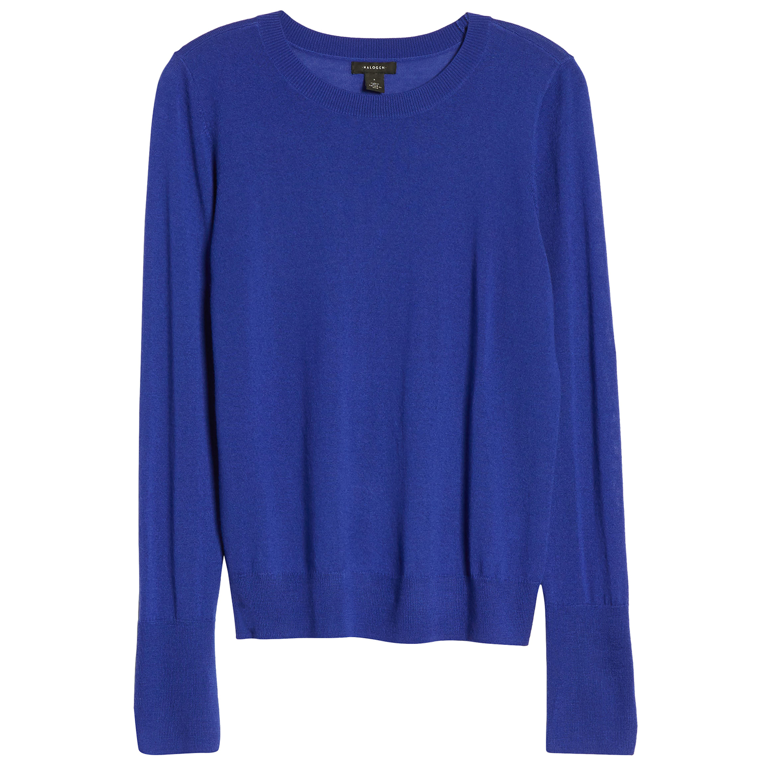 Halogen Crewneck Merino Wool Blend Sweater