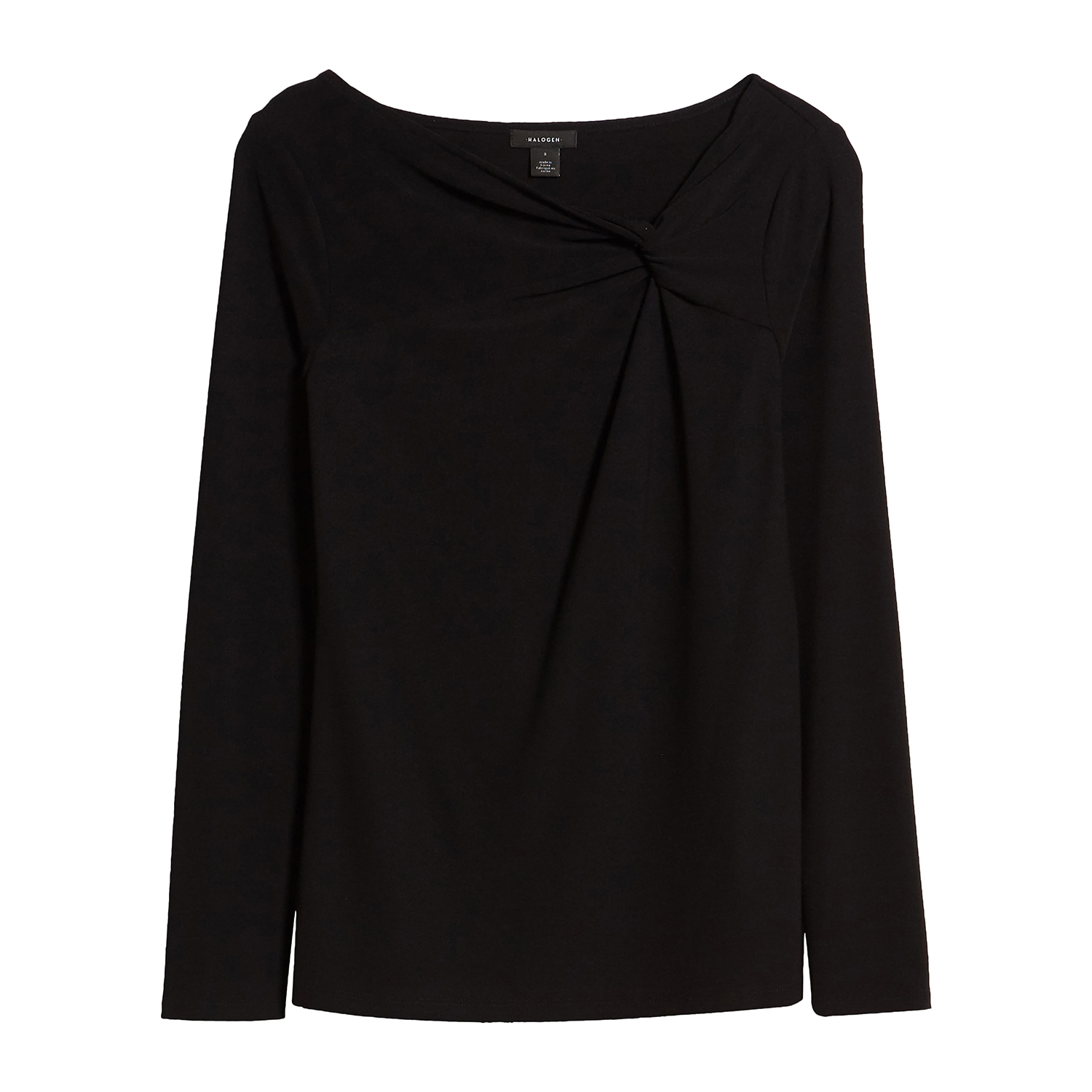 Halogen Twist Neck Fashion Knit Top