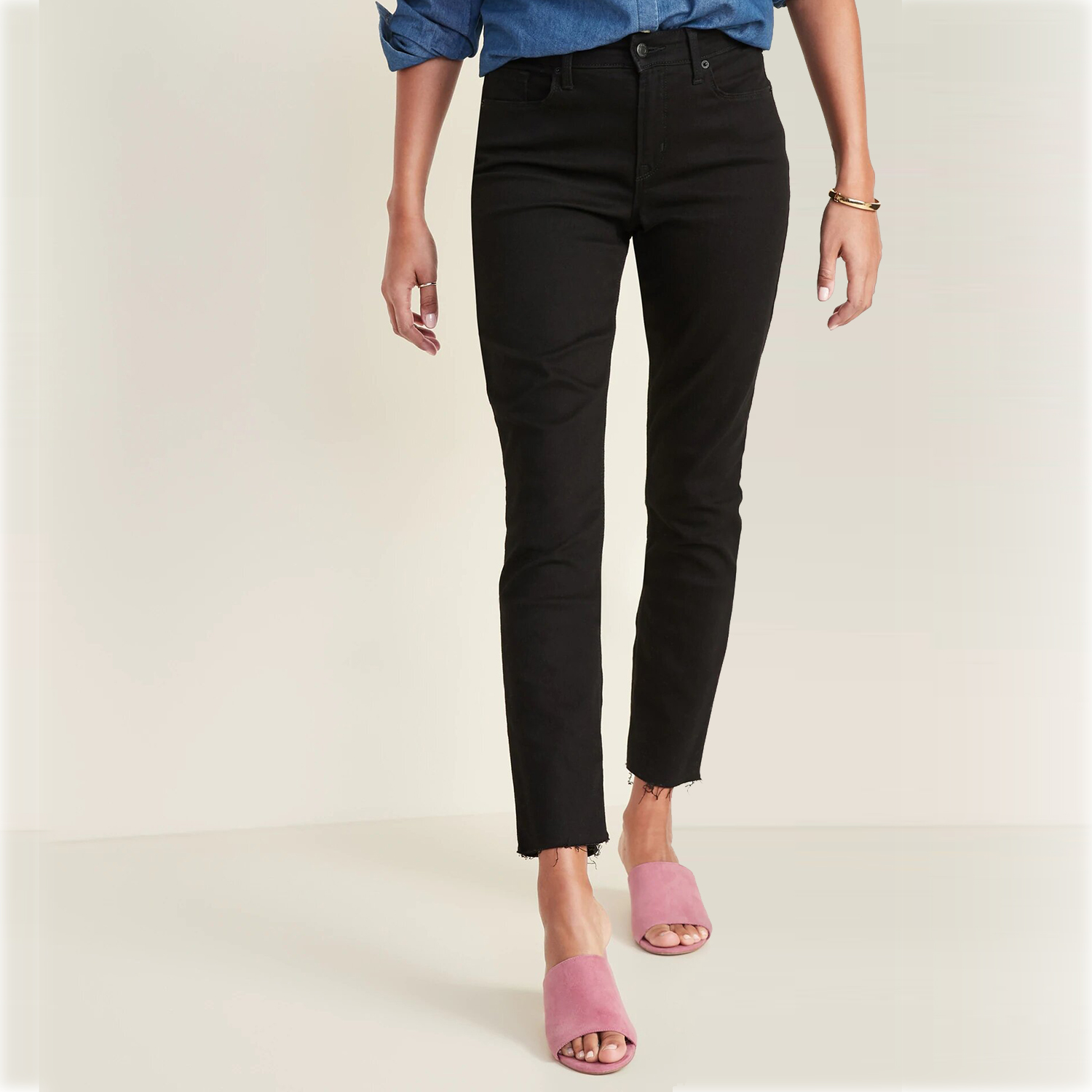 Old Navy High-Waisted Power Slim Straight Jeans