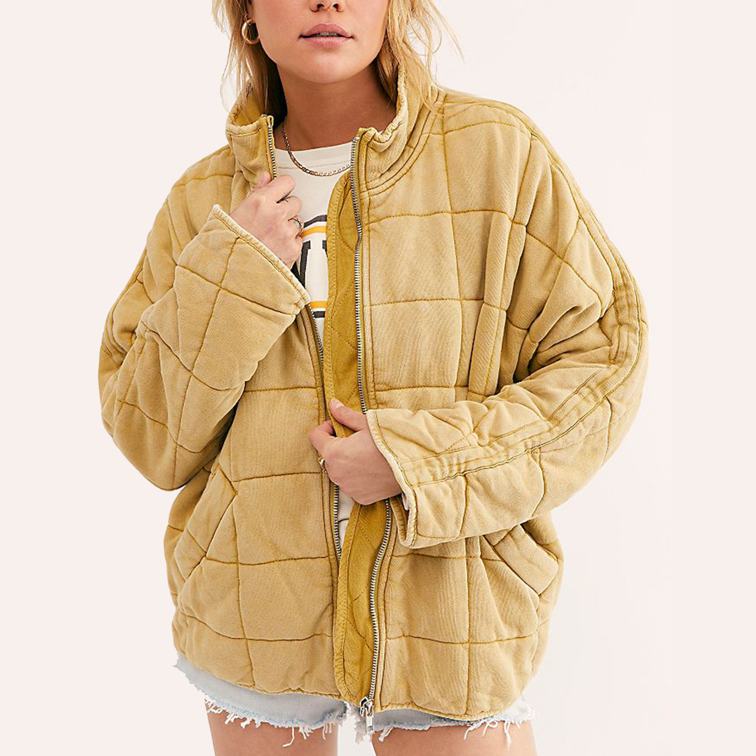 Dolman Quilted Knit Jacket
