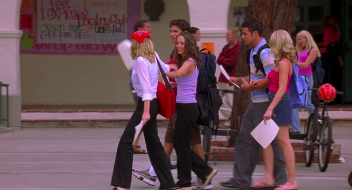 bring it on outfits, torrance's black pants white shirt and bandana