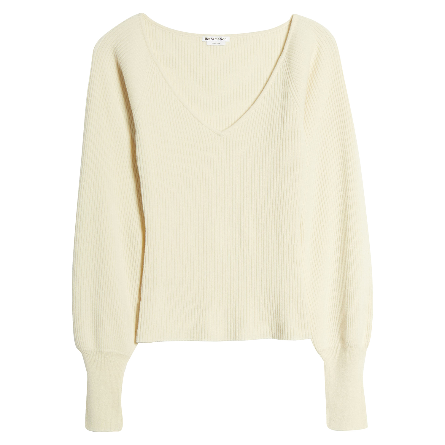 Reformation Hart Wide Neck Sweater