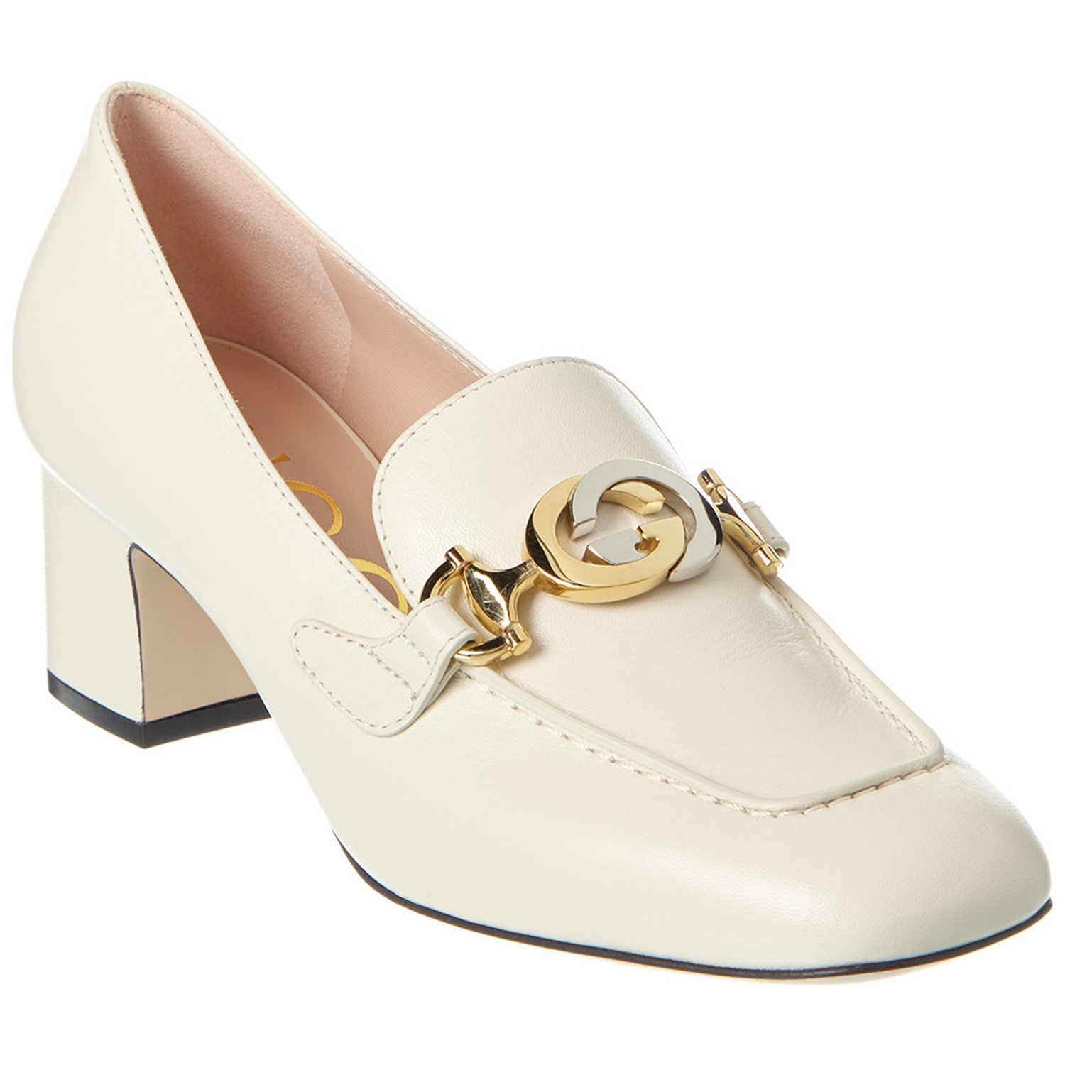 Gucci Zumi Mid-Heel Leather Loafer