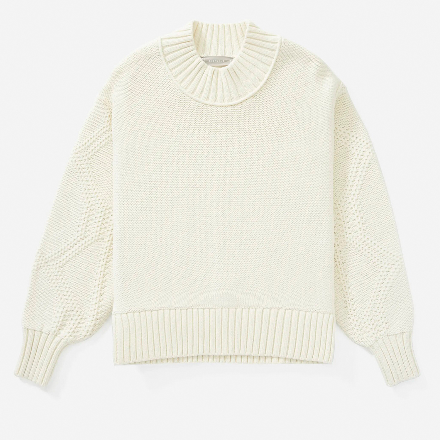 Texture Cotton Cable Sweater Everlane