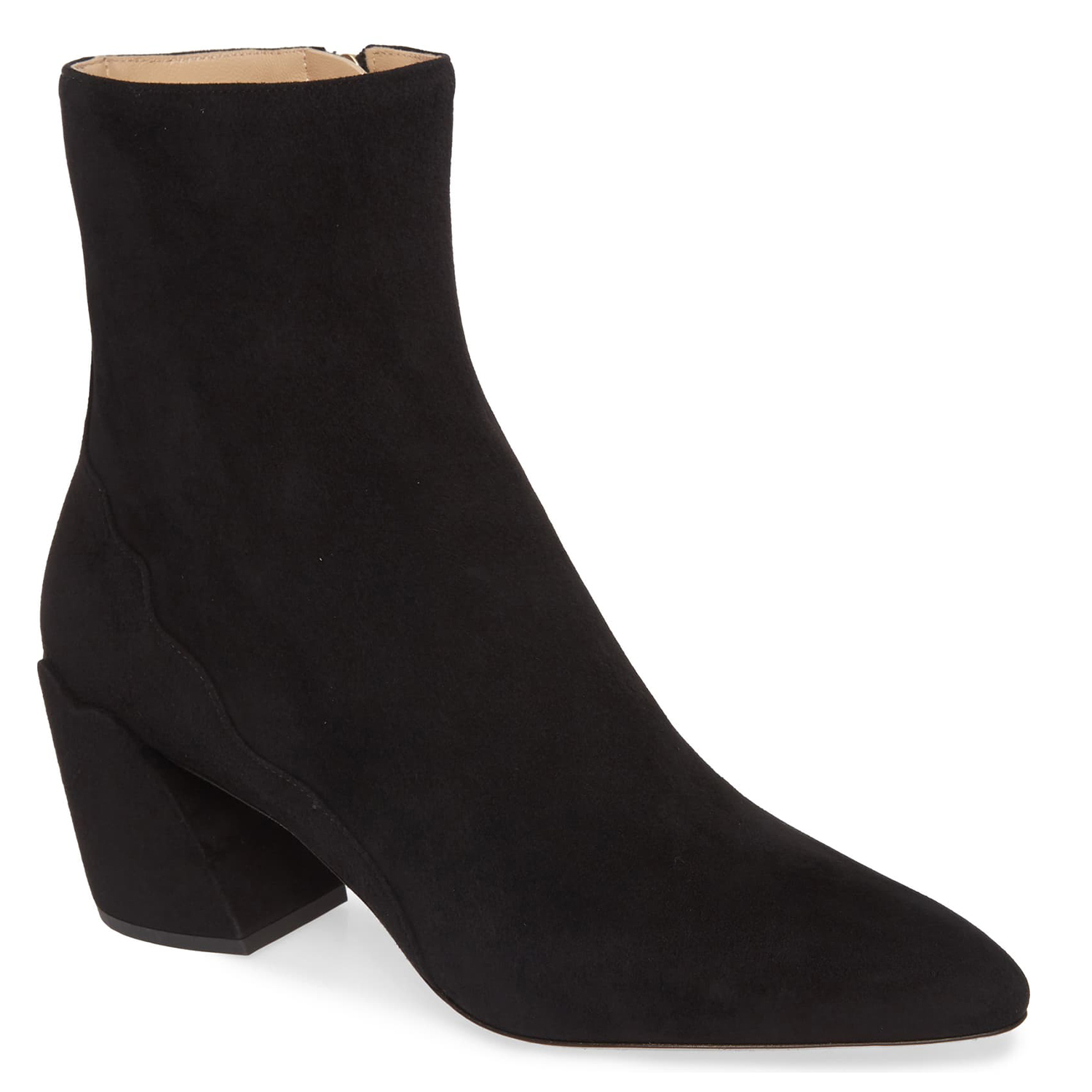 Chloé Laurena Scallop Pointed Toe Bootie