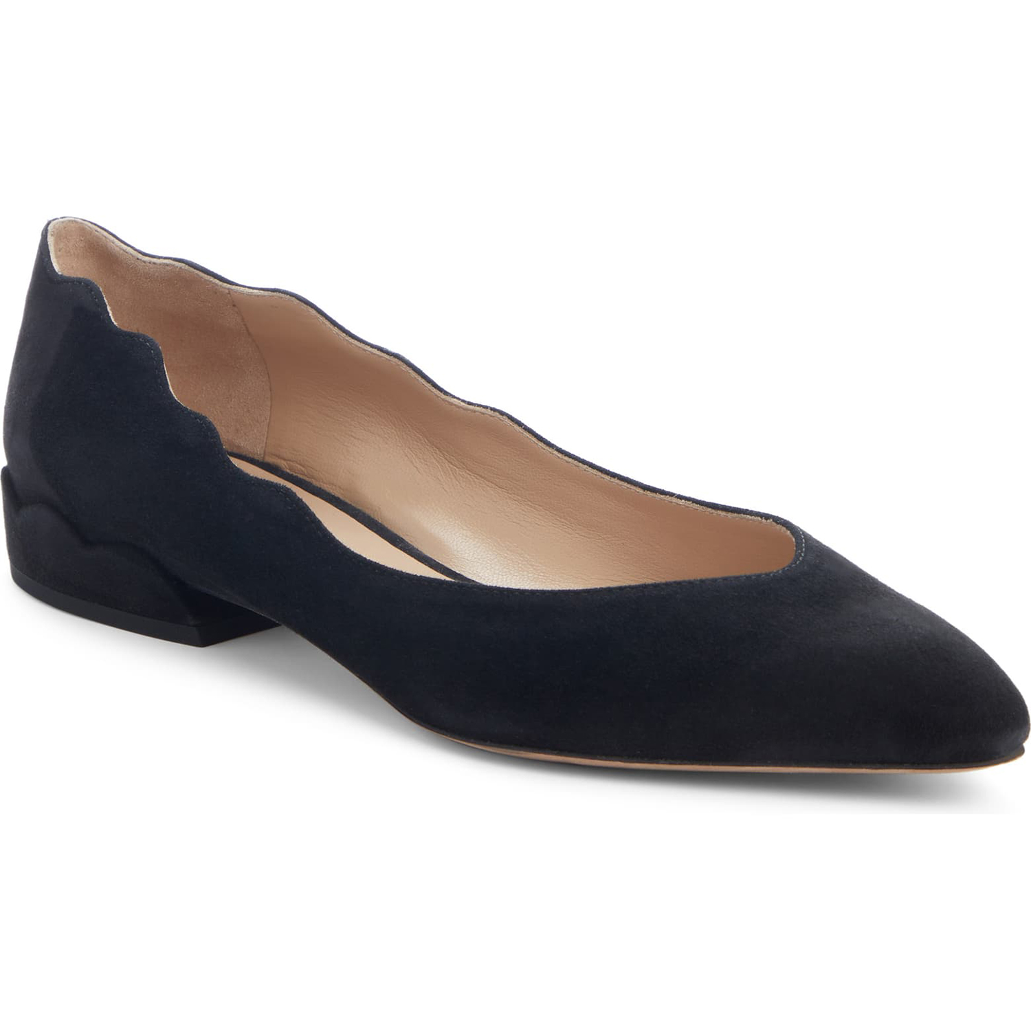 Chloé Laurena Scalloped Flat