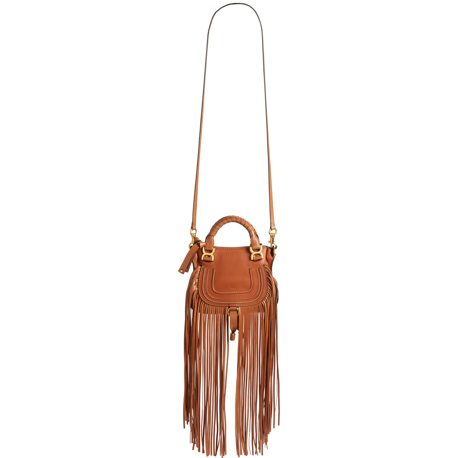 Chloé Mini Marcie Fringe Leather Crossbody Bag