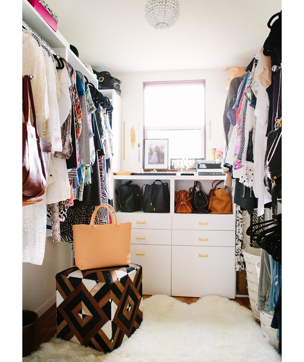 House in Hills closet after