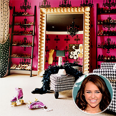Miley Cyrus, Celeb's Favorite Rooms