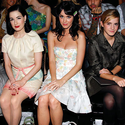 Dita von Teese, Katy Perry and Emma Watson