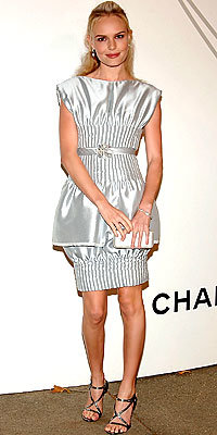 Kate Bosworth, Chanel, Silver, Holiday Dresses