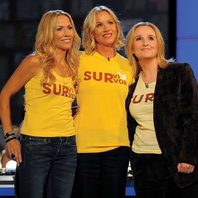 Sheryl Crow, Christina Applegate, Melissa Etheridge, Stand Up 2 Cancer, Los Angeles