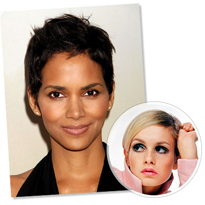 Halle Berry - Twiggy - Pixie Hair - Classic Hairstyles