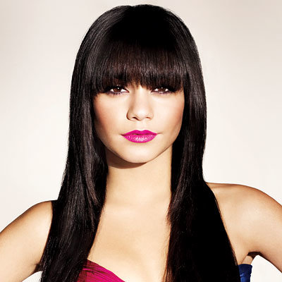 Vanessa Hudgens - Top Hair Try-ons of 2009 - Bangs - Get Hollywood Hair