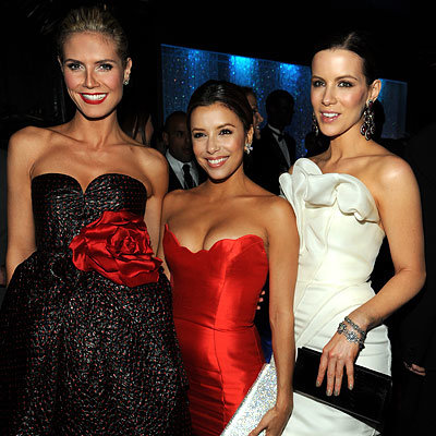 Best Parties of 2009 - Heidi Klum, Eva Longoria Parker and Kate Beckinsale -  InStyle/Warner Brothers Golden Globes After-party