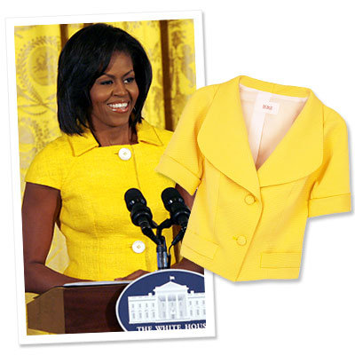 Get The Look: Michelle Obama's Lemon Yellow Jacket
