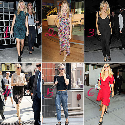 Sienna Miller: 1 Day, 6 Outfits!