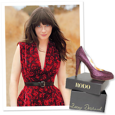 What's Right Now - Zooey Deschanel's Latest Role: Celebrity Shoe Designer