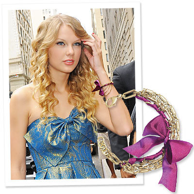 Taylor Swift - Lisa for Loft - Breast Cancer Awareness bracelet