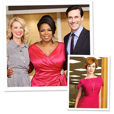 Oprah - Janie Bryant- Mad Men - Jon Hamm - January Jones - Christina Hendricks - What's Right Now - Style on the Set
