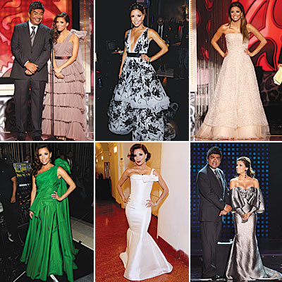 Eva Longoria Parker's Runway of Gowns