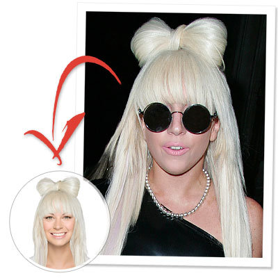 Try On Lady Gaga's Bow Hair