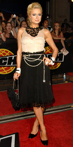Paris Hilton - 30 Most Memorable Looks - Moschino - Chanel