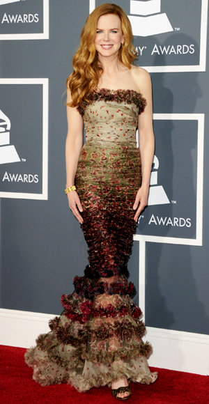 Nicole Kidman - Jean Paul Gaultier - Red Carpet Arrivals - Grammy Awards 2011
