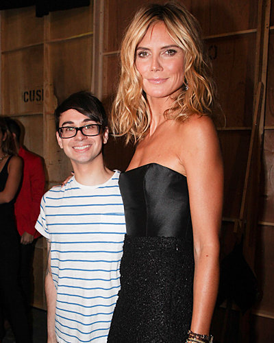 Heidi Klum and Christian Siriano