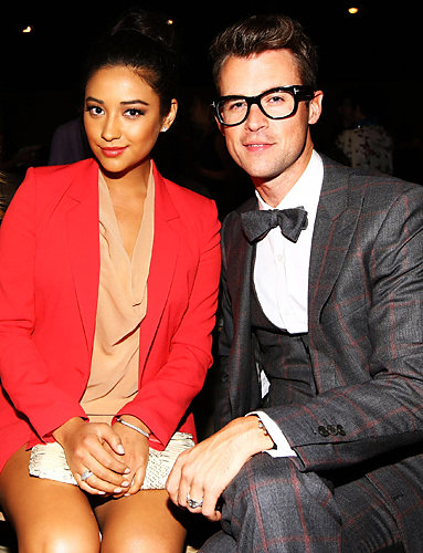 Shay Mitchell and Brad Goreski at the spring 2012 DKNY show