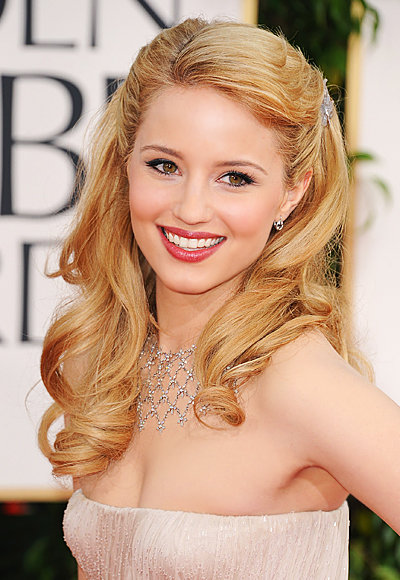 Dianna Agron - J. Mendel - Cathy Waterman - Best Golden Globes Jewelry