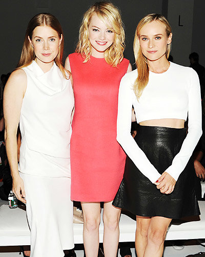 Amy Adams, Emma Stone, and Diane Kruger - New York Fashion Week