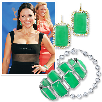 Emmys Jewelry - Julia Louis-Dreyfus - Irene Neuwirth