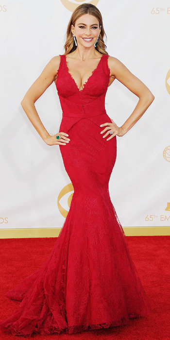 Emmy Arrivals: Sofia Vergara in Vera Wang