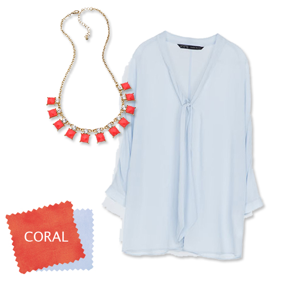 Ice Blue + Coral