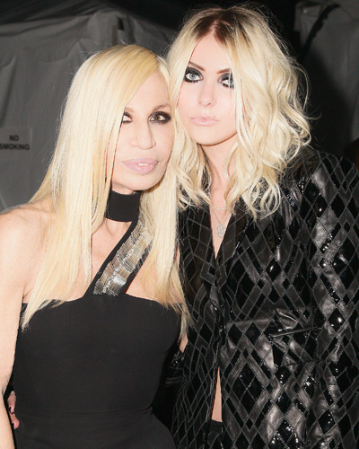Donatella Versace and Taylor Momsen