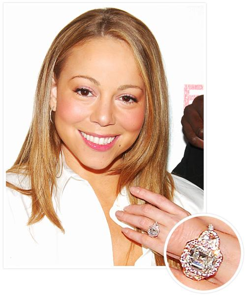 Biggest Celebrity Engagement Rings - Mariah Carey and Nick Cannon