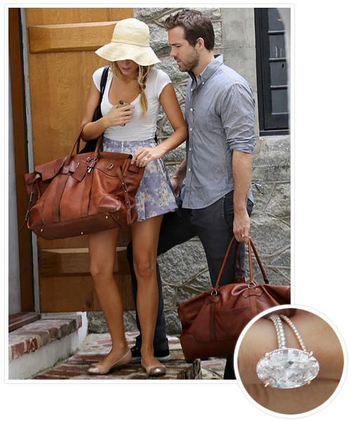 Biggest Celebrity Engagement Rings - Blake Lively and Ryan Reynolds