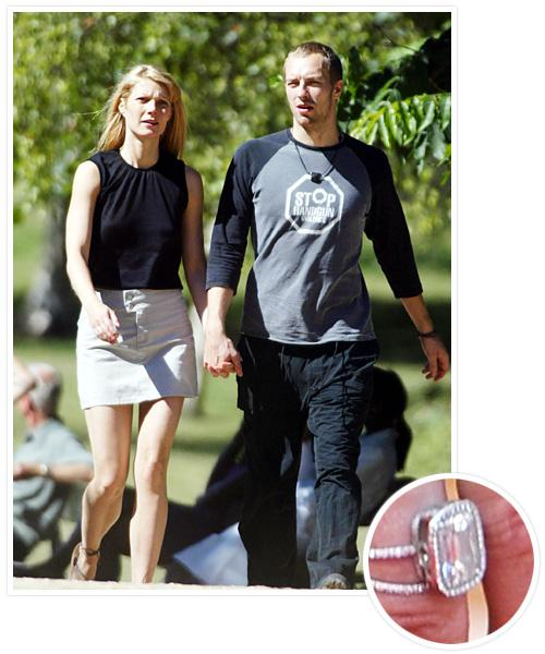 Biggest Celebrity Engagement Rings - Gwyneth Paltrow and Chris Martin