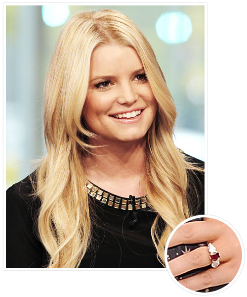 Biggest Celebrity Engagement Rings - Jessica Simpson and Eric Johnson